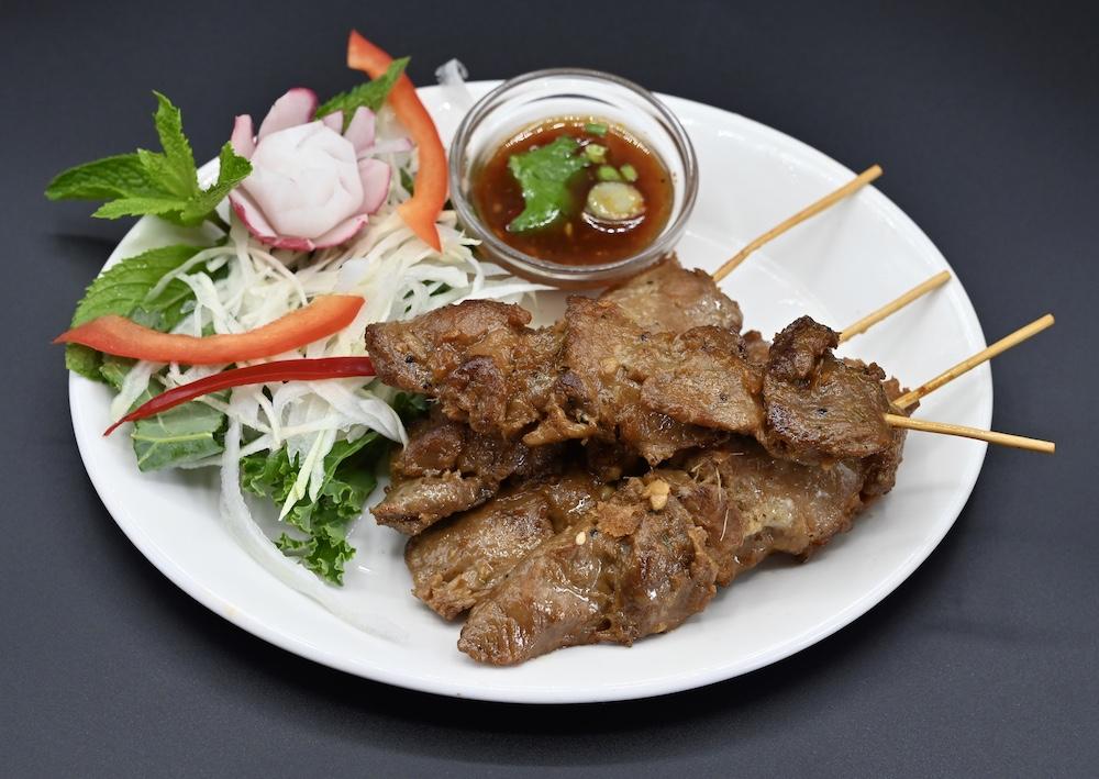 16. Pork honey Satay (Moo Ping)