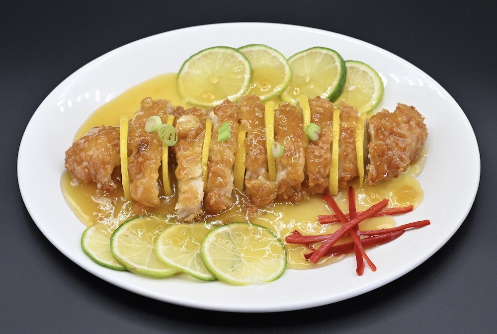 CS7. Crispy chicken with Lemon Sauce